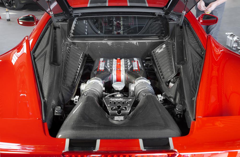 Motorraum Carbon (matt lackiert)