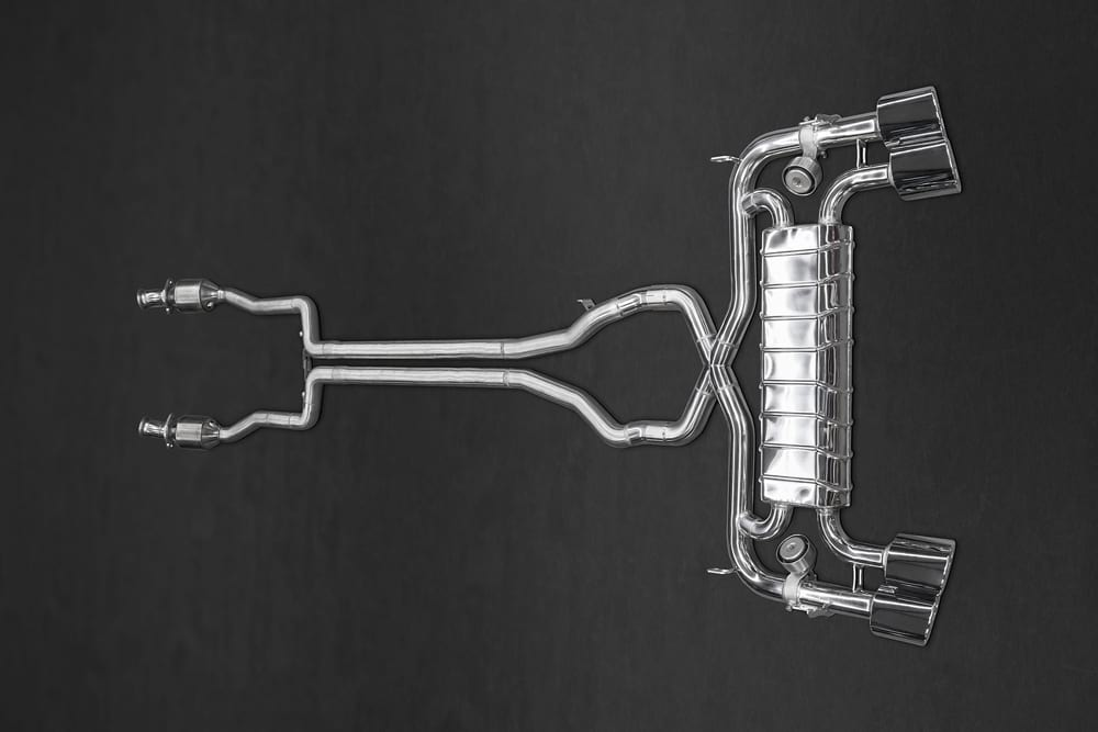 Abgasanlage & Sportkats 100 Zellen (2WD)